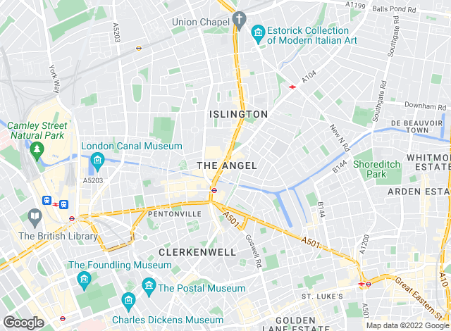 Map for Foxtons, Islington