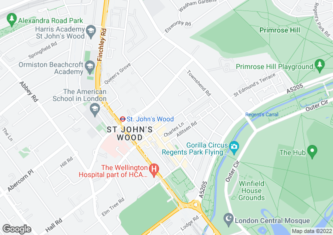 Map for St John's Wood Terrace, London, NW8