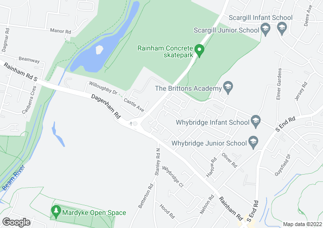 Map for Theydon Gardens, Rainham, Essesx, RM13