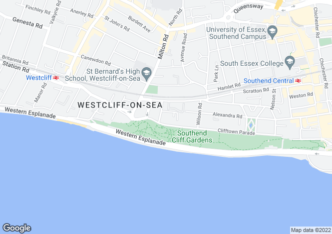 Map for Victoria Court Tower Court Mews  Westcliff-on-Sea  SS0
