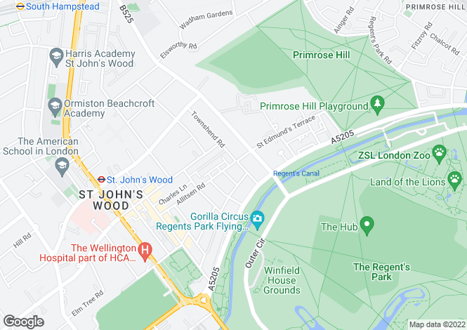 Map for Allitsen Road, St John's Wood