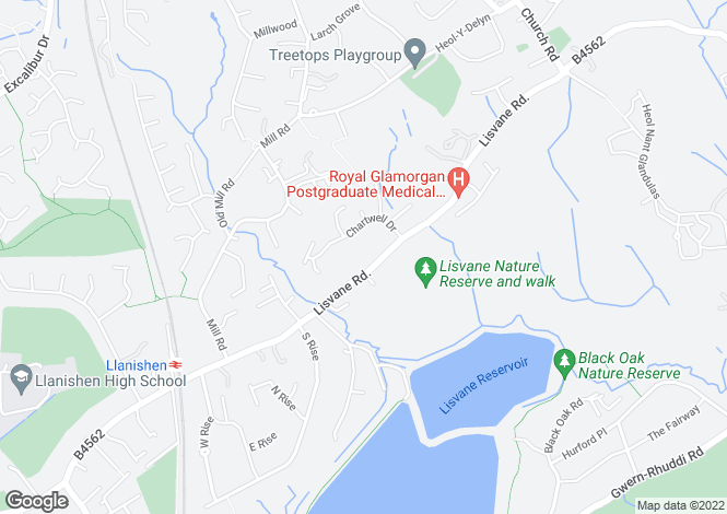 Map for Lisvane Road, Lisvane, CF14 0SF