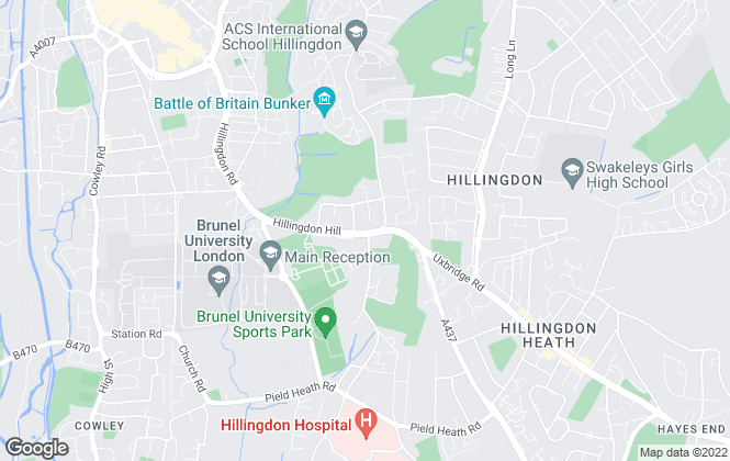 Map for Arron James , Hillingdon