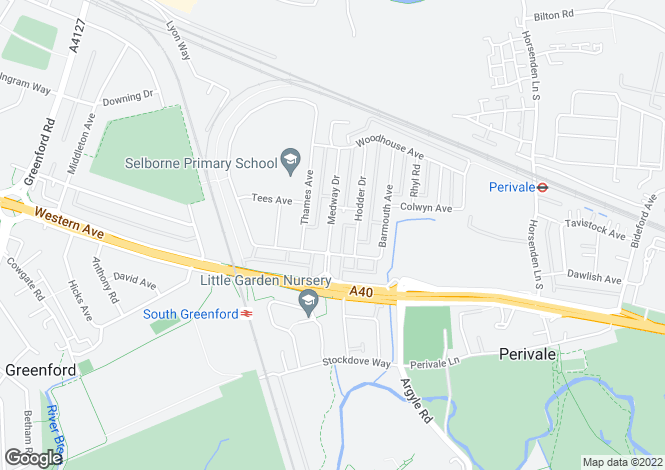 Map for Medway Drive, Perivale, Greenford