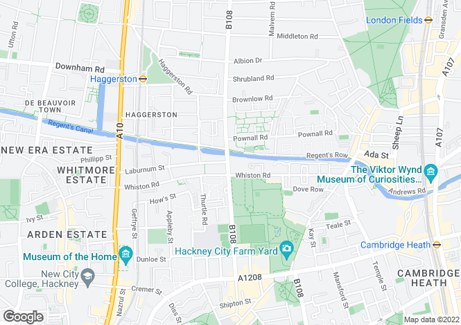 Map for Queensbridge Road, Dalston, London, E2