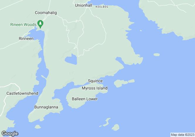 Map for Ceol na Mara, Cooscroneen, Union Hall, Co Cork