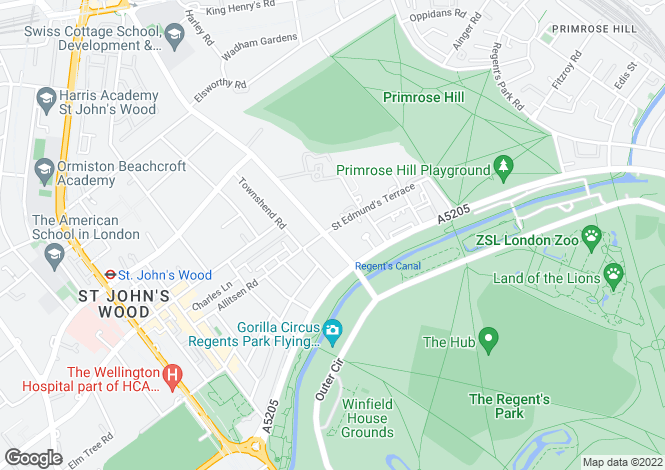 Map for Prince Regent Court, Avenue Road, St John's Wood, NW8