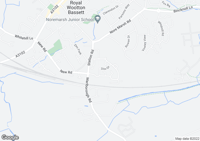 Map for Cloatley Crescent, Royal Wootton Bassett, Wiltshire