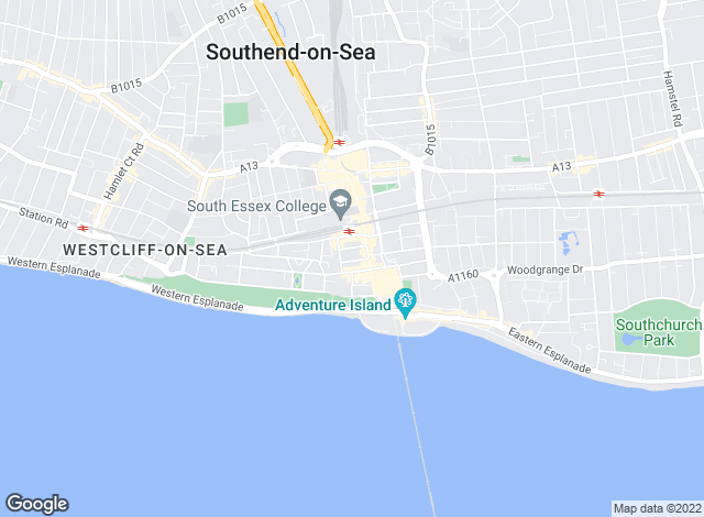 Map for Sorrell, Southend-on-sea