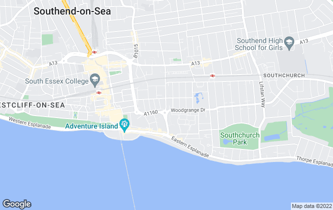Map for Legra Homes, Southend-On-Sea