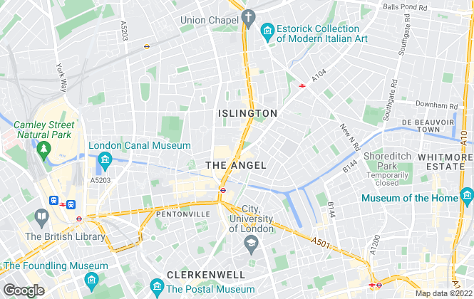 Map for Winkworth, Islington