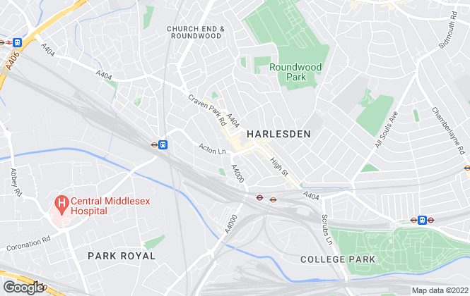 Map for Hart and Co , Harlesden