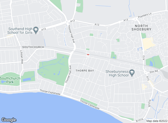 Map for Hair & Son LLP, Thorpe Bay