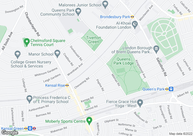 Map for Chevening Road, Queen's Park, London, NW6