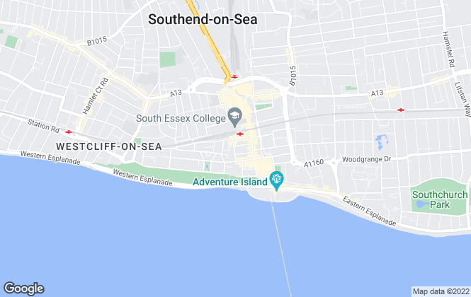 Map for Peter Howard Properties, Southend-On-Sea