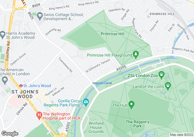 Map for St Edmunds Terrace, NW8