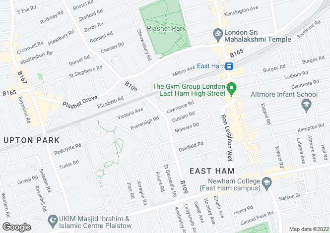 Map for Katherine Road, East Ham, London, E6 1ER