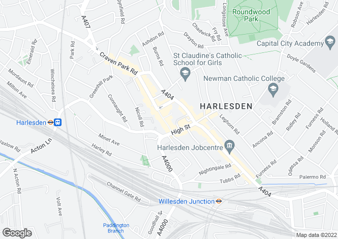 Map for Harlesden High Street, Harlesden, NW10