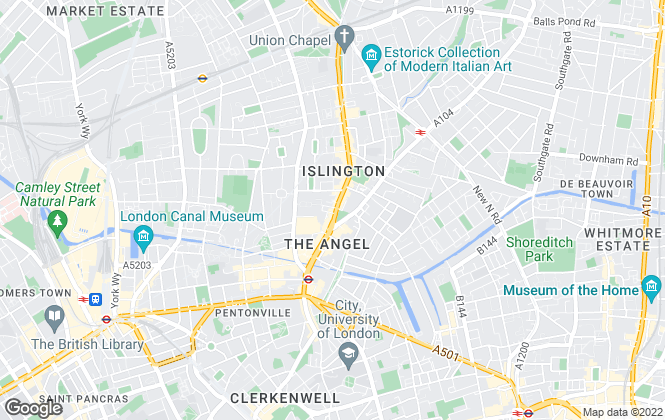 Map for Dexters, Islington