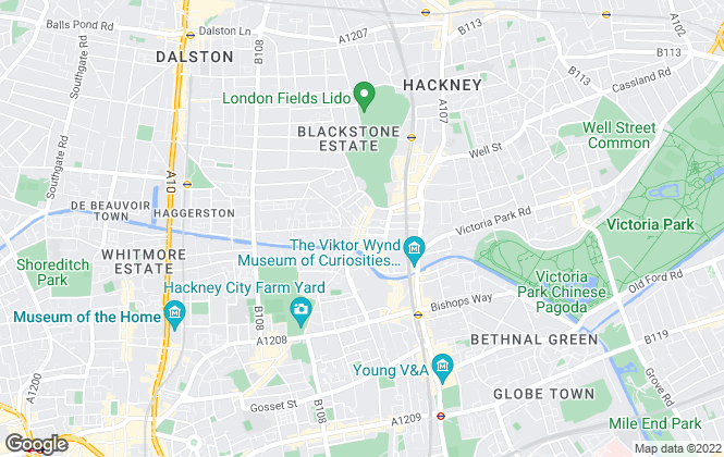 Map for Dexters, Hackney