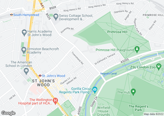Map for Avenue Road, St John's Wood, London