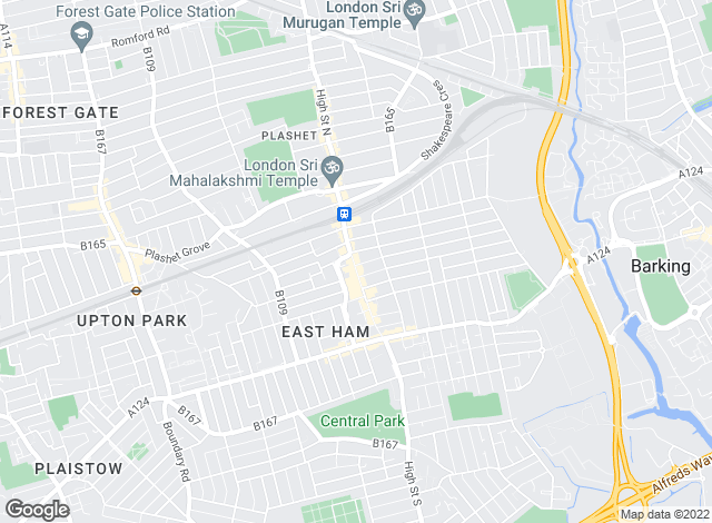 Map for Douglas Allen, East Ham