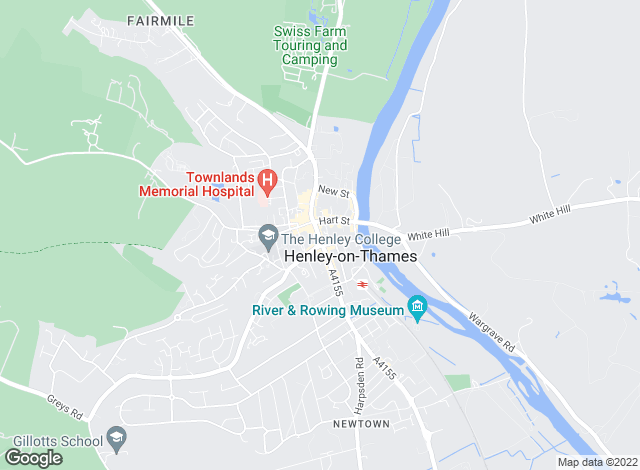 Map for Peers & Hilton, Henley on Thames