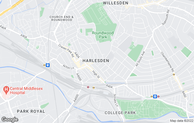 Map for Harlesden Heights, London