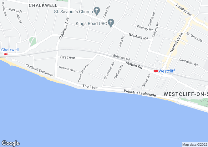 Map for Room With Ensuite , Grosvenor Road, Westcliff On Sea