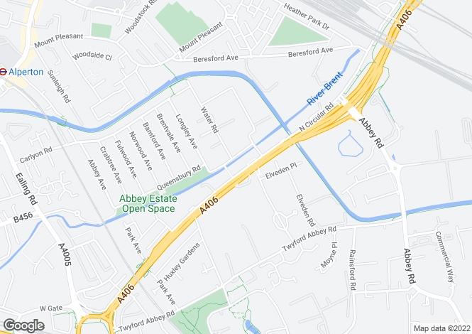 Map for North Circular Road, Wembley, London, NW10