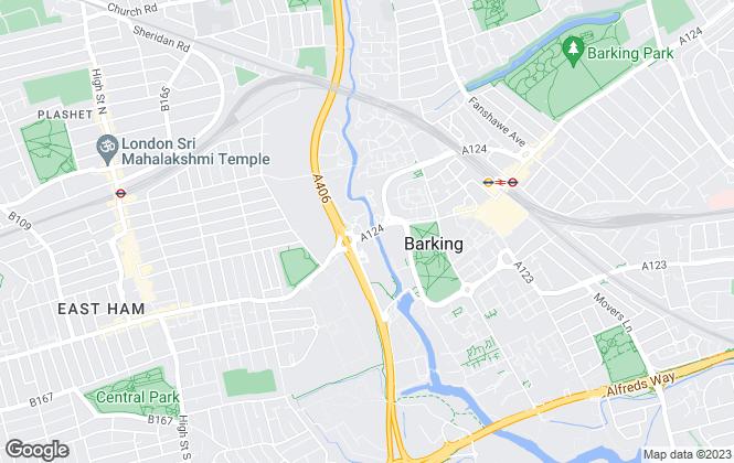 Map for homes24seven, Barking