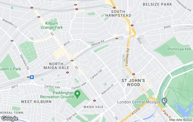 Map for Greenstone, St. Johns Wood
