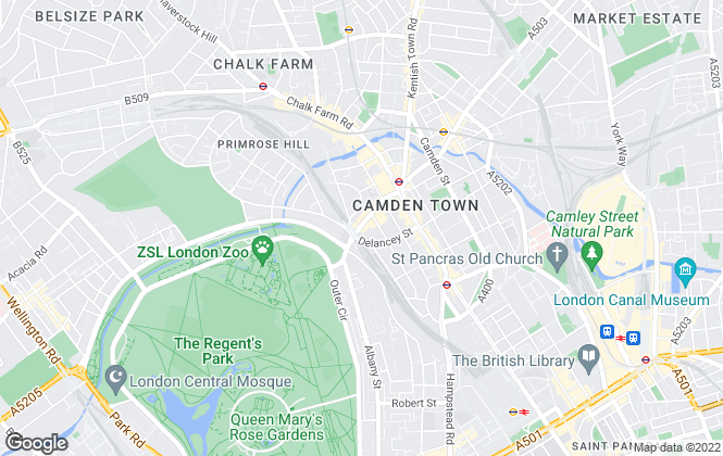 Map for London Residential, Camden