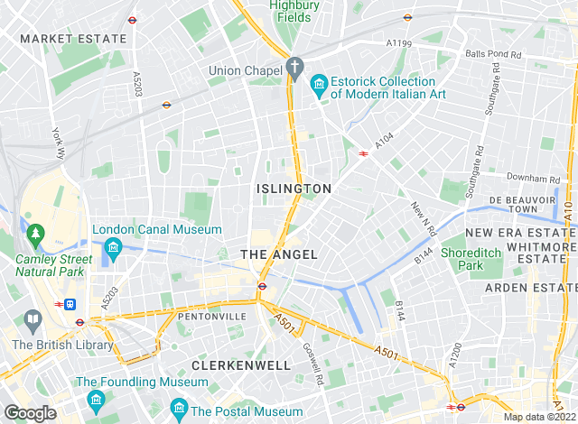 Map for Hamptons International Lettings, Islington - Lettings