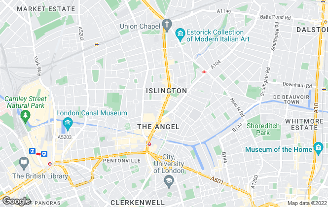 Map for Savills, Islington