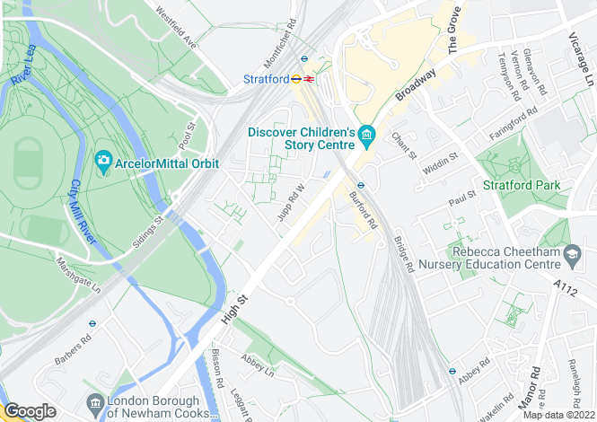Map for Ward Road, Flat 83, Stratford, London, E15 2LB