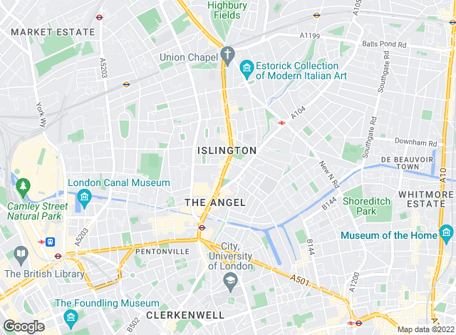 Map for Currell Islington, Islington - Lettings