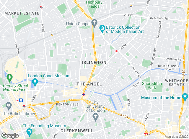 Map for Chesterton Humberts Lettings, Islington