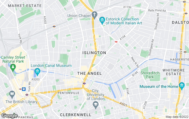 Map for Currell Islington, New Homes