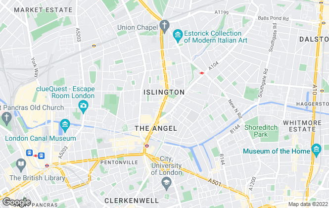 Map for Chestertons Lettings, Islington