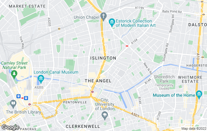 Map for Chestertons Sales, Islington