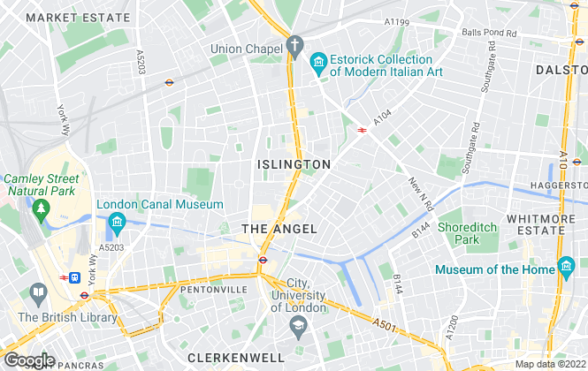Map for Chestertons Estate Agents , Islington Lettings