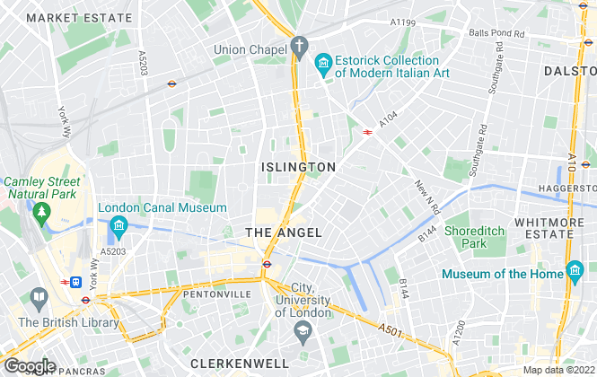Map for Currell Islington, Islington - Sales