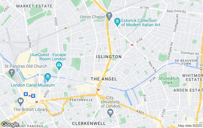 Map for Portico, Islington