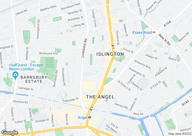 Map for Theberton Street, Islington, London N1 0QY