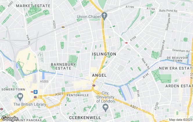 Map for Portico, Islington