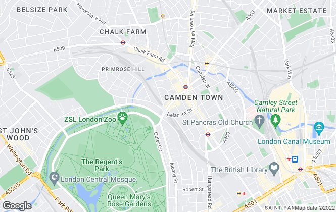 Map for Foxtons, Camden