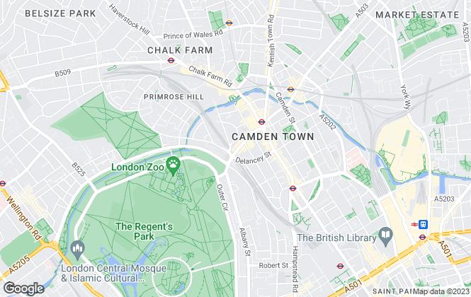 Map for Foxtons, Camden