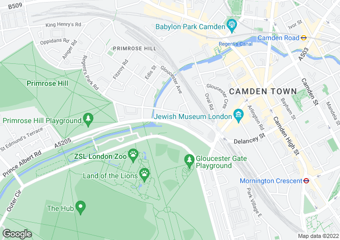Map for Prince Albert Road, Primrose Hill, London, NW1