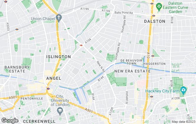 Map for Blackcords Property Consultants Ltd, Islington